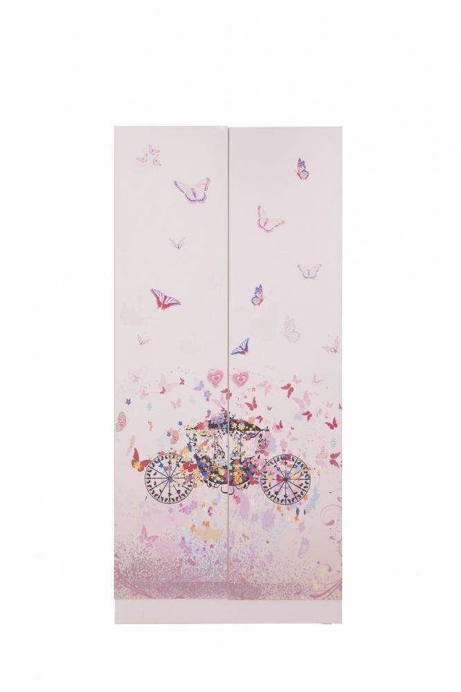 Mädchen Kleiderschrank Pinkie 2-türig mit Motiv - Kaufen bei Möbel-Lux