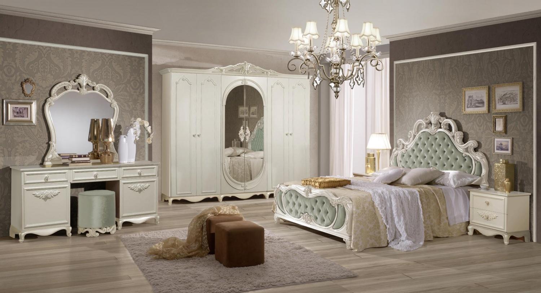 Italien Schlafzimmer Weiß Agate mit 4-türigem Schrank - yatego.com
