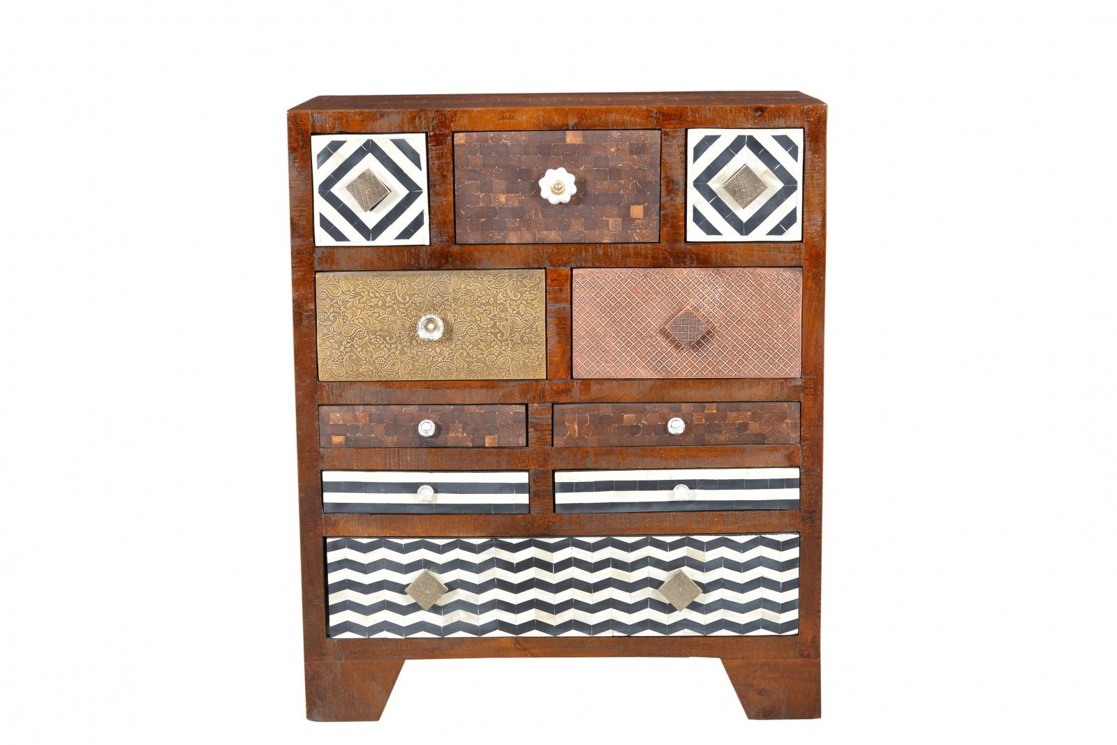 kommode bunt schubladen wohn design. Black Bedroom Furniture Sets. Home Design Ideas