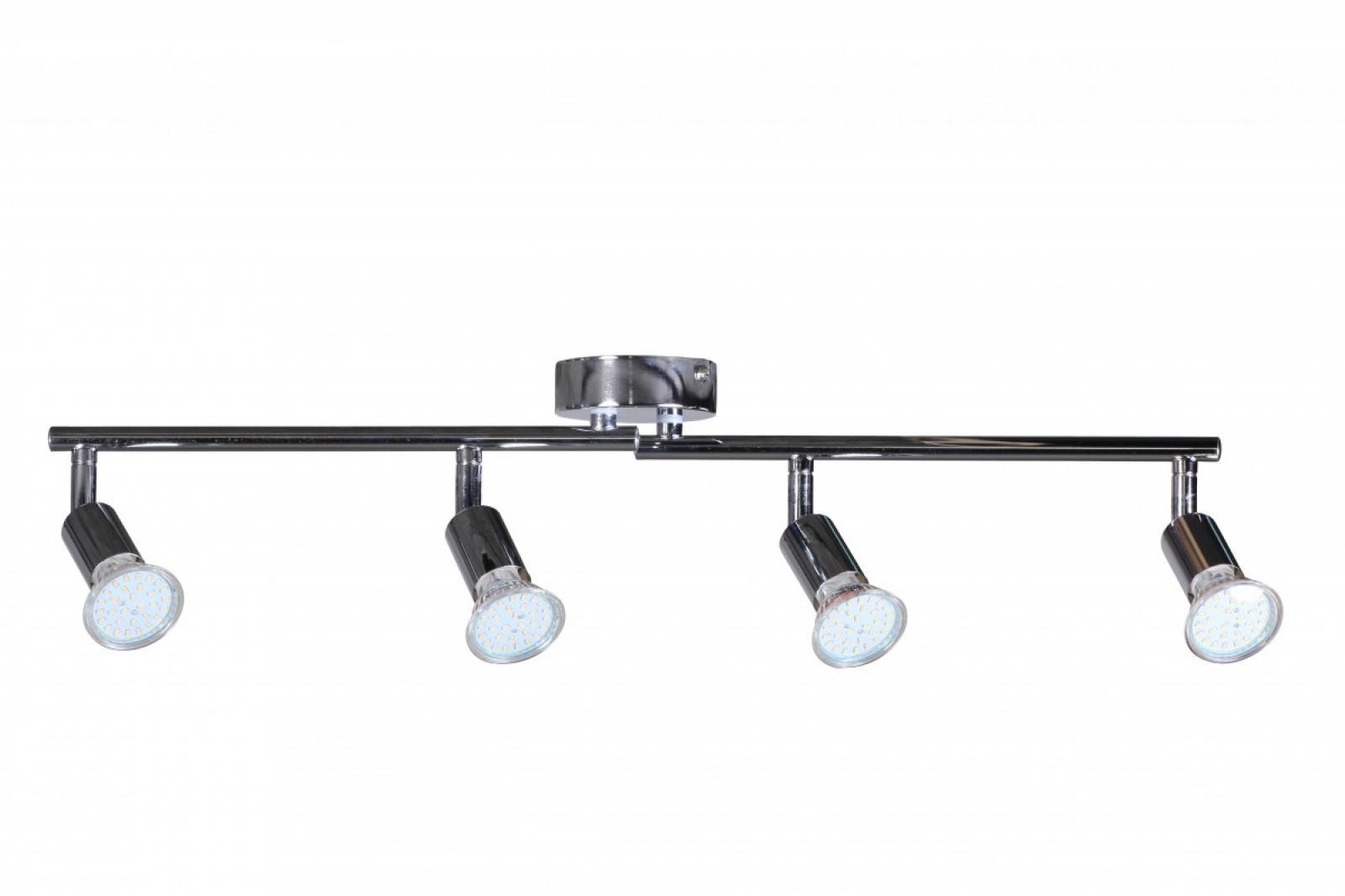 4er LED-Strahler Deckenleuchte Spotsystem LED Gelenksystem Decken ...