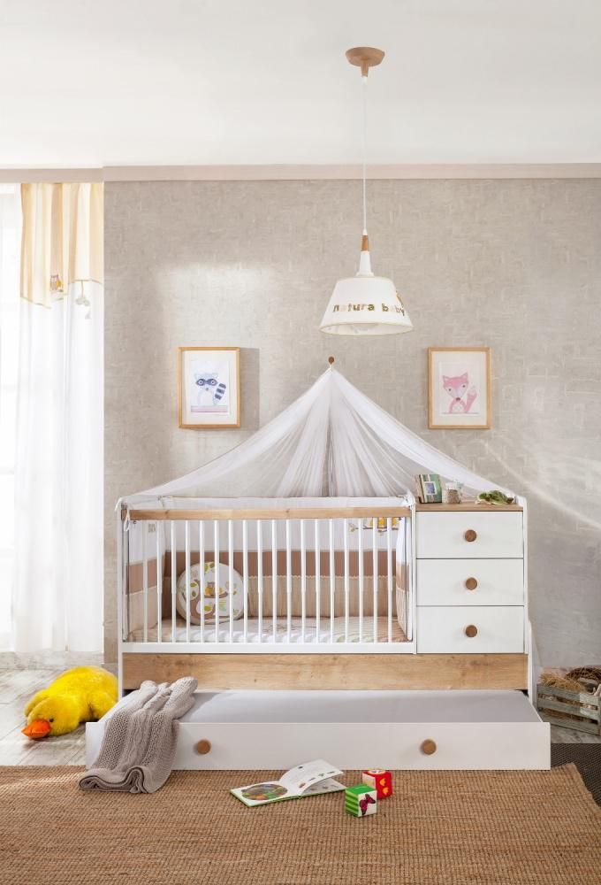 cilek natura baby babybett mitwachsend mit elternbett kaufen bei m bel lux. Black Bedroom Furniture Sets. Home Design Ideas