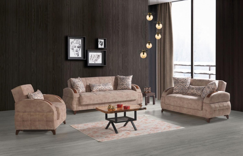 Sofa Garnitur Mit Schlaffunktion In Beige Diva 321 Kaufen Bei