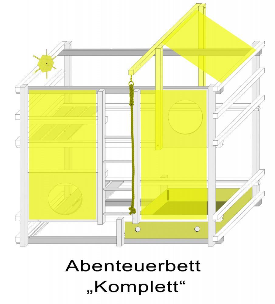 piraten hochbett damian komplett set buche massiv kaufen bei m bel lux. Black Bedroom Furniture Sets. Home Design Ideas