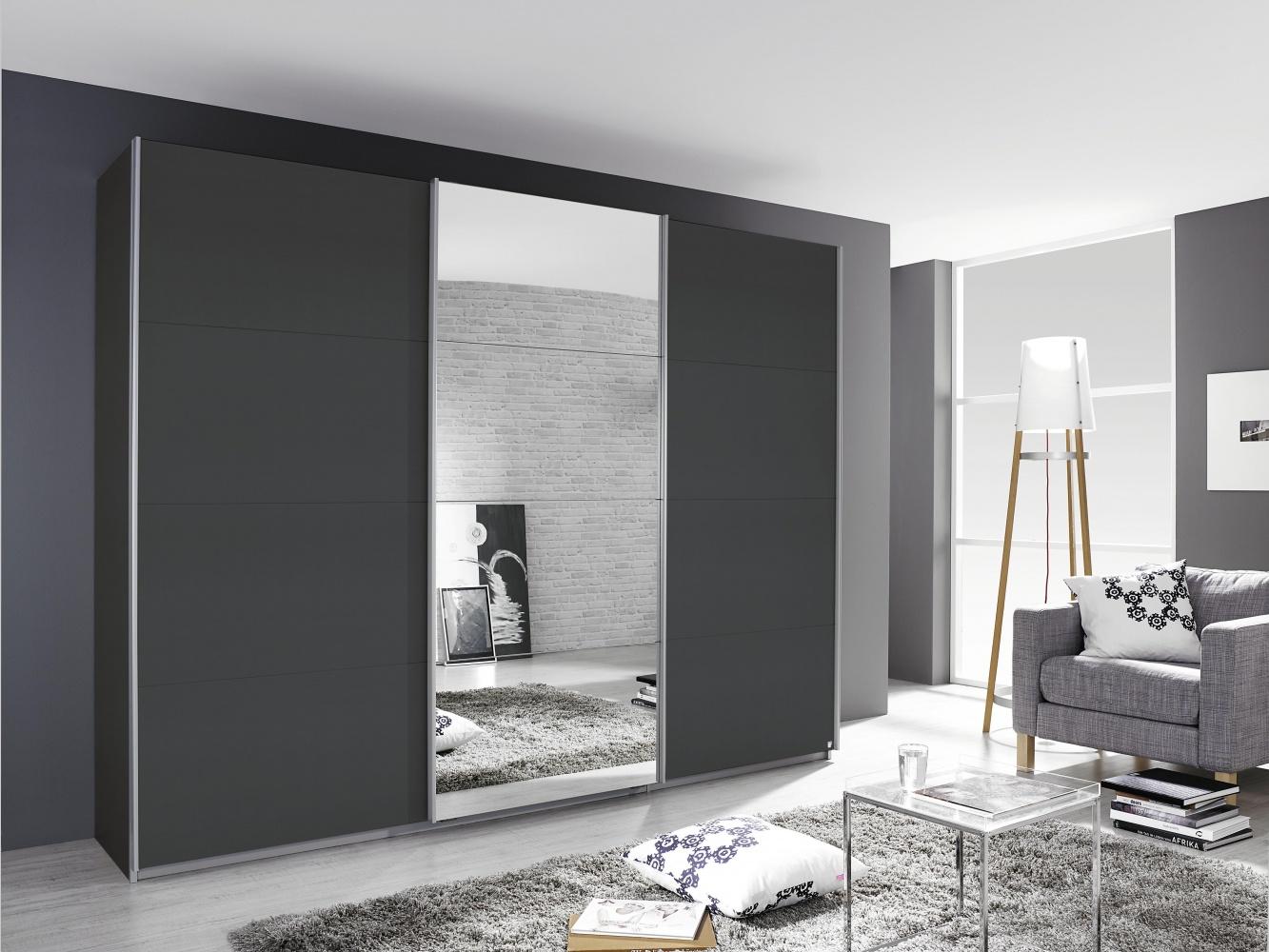 Schrank Grau Kulmbach Mit Spiegel 271x229x62 Kaufen Bei Mobel Lux