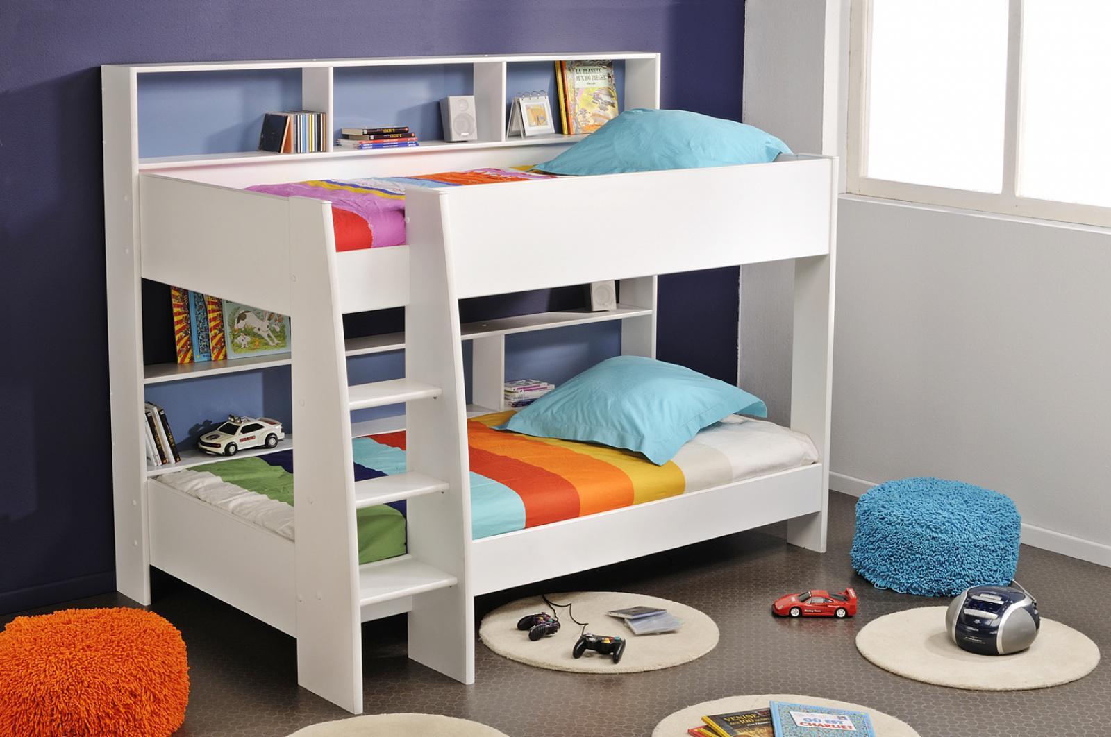 Etagenbett Leiter : Etagenbett in weiß timi mit integrierter leiter kaufen bei möbel lux