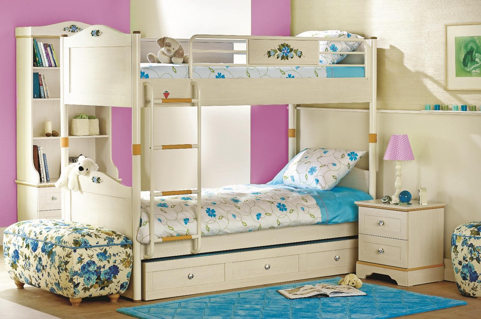 Etagenbett Für 3 : Cilek flora etagenbett set teilig mit gästebett kaufen bei