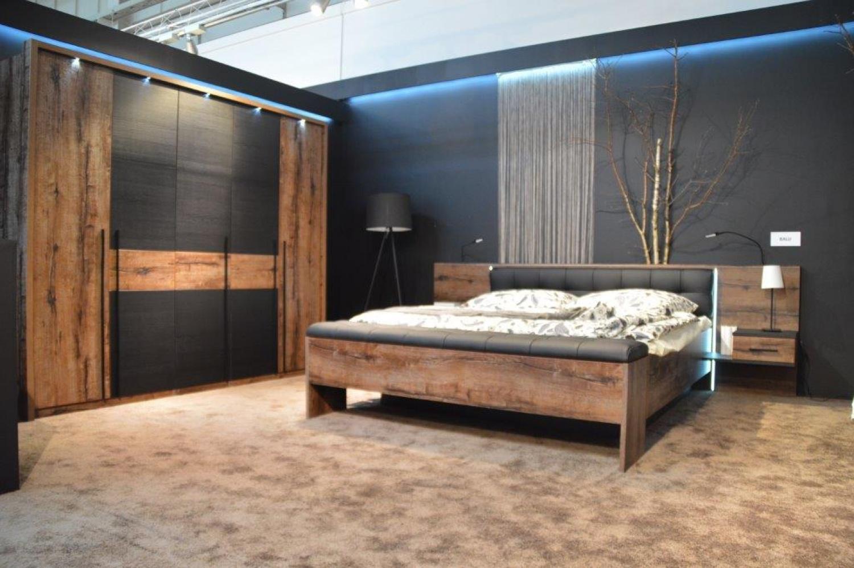 Schlafzimmer Set In Schwarz Eiche Viso 2 Teilig Kaufen Bei Mobel Lux