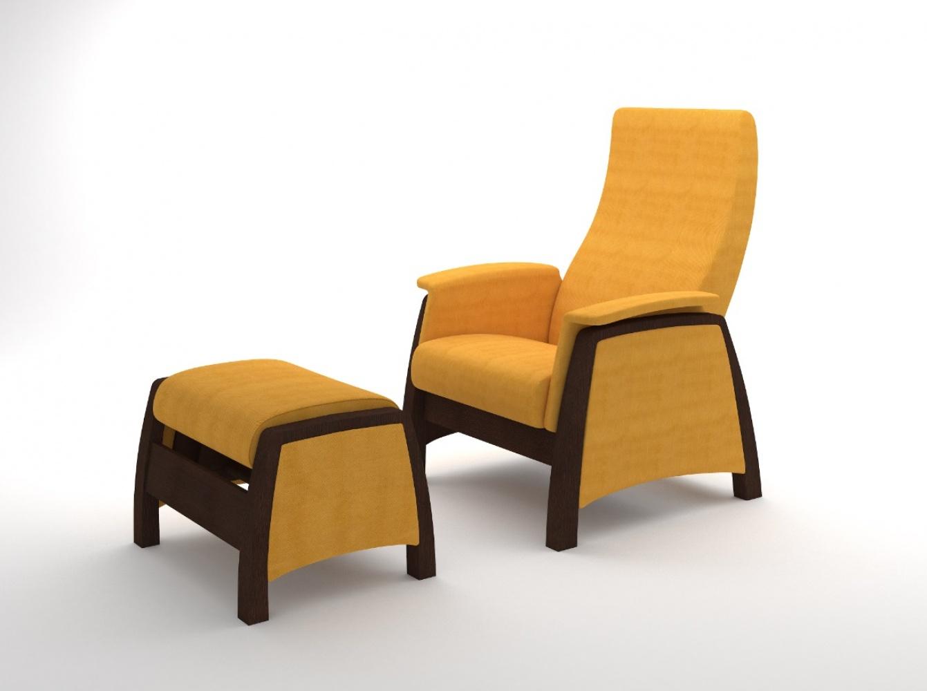 Sessel Gleitfunktion Mit Hocker Balance Walnuss Gelb Kaufen Bei