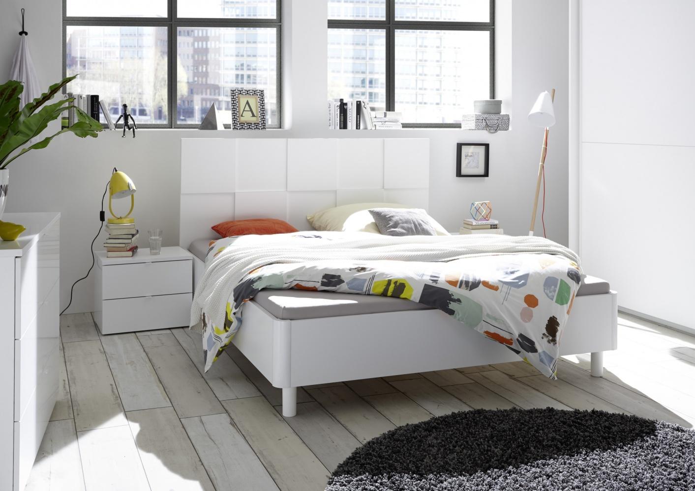 Schlafzimmer Set in Weiß Ottea 4-teilig 180x200 - yatego.com