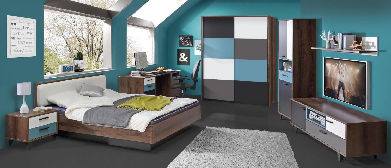 Kinderzimmer Komplett Raban 7 Teilig / Bett 120x200 1 ...