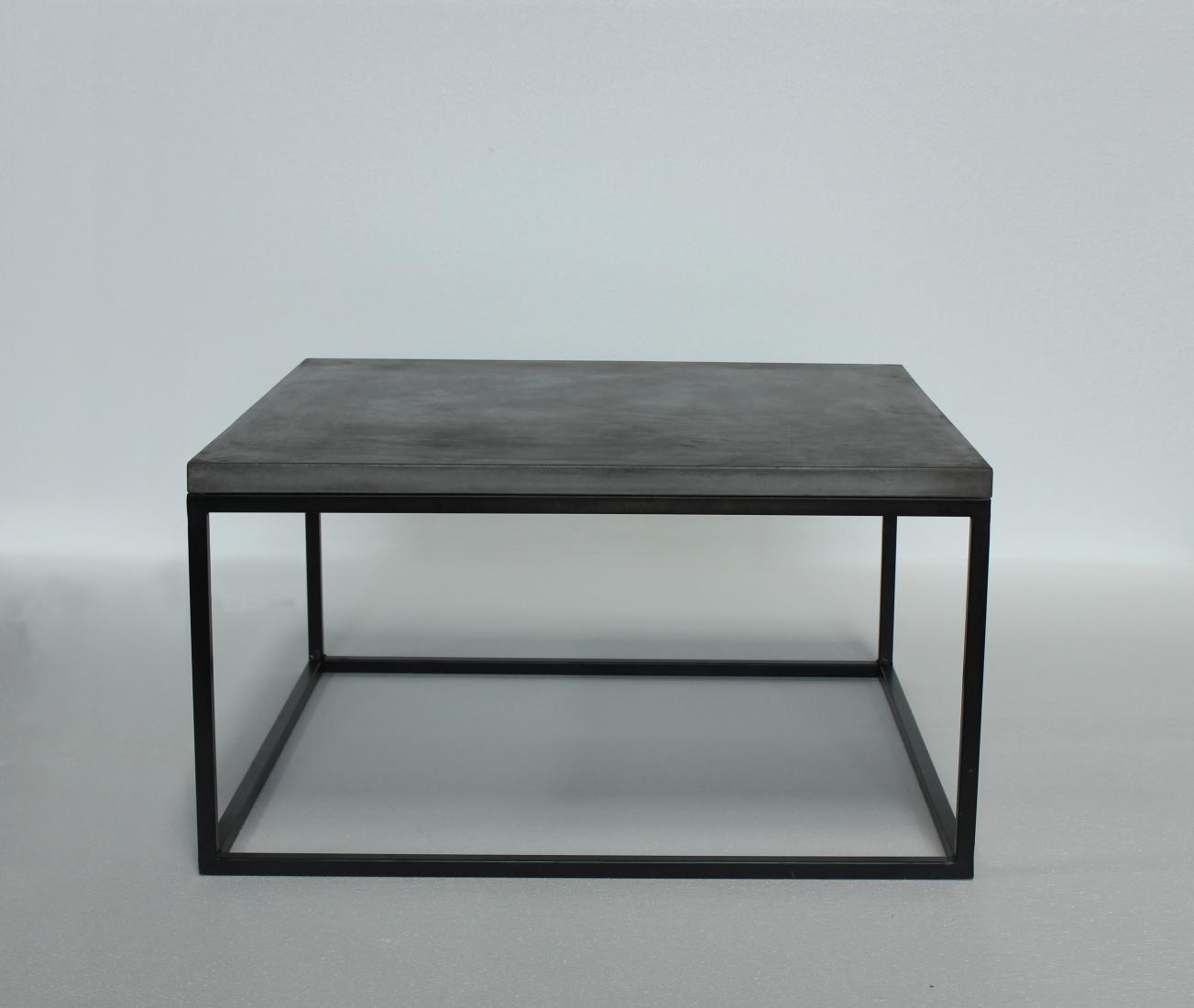 Beton wohnzimmertisch  Couchtisch Camant 80x80 aus Beton mit Schwarz - Kaufen bei Möbel-Lux