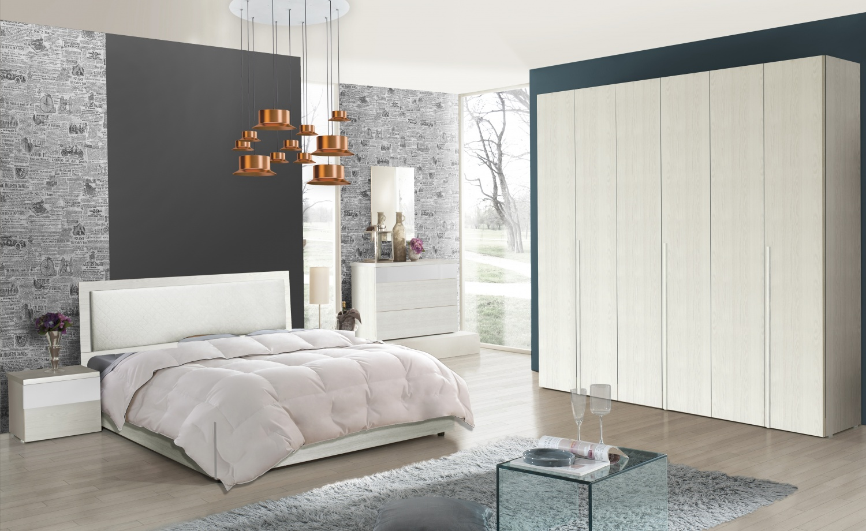 Schlafzimmer Serie Soraja Creme Weiß 4 teilig 180x200 cm / creme/weiß   Kaufen bei Möbel Lux