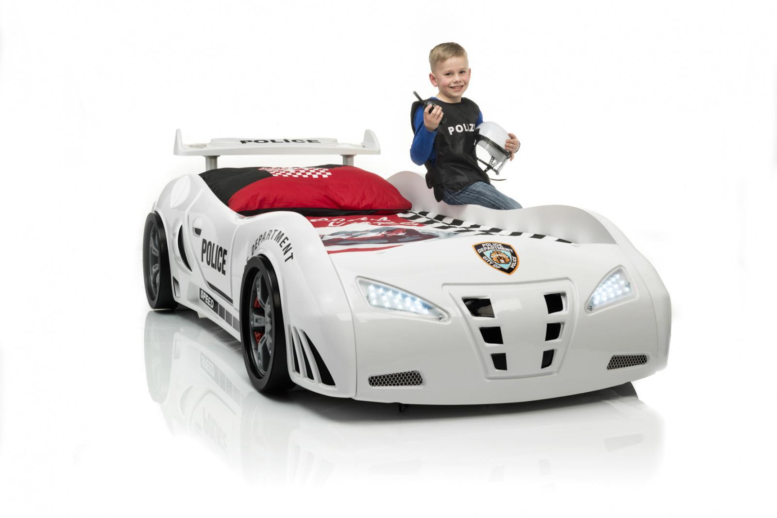 Kinderbett Auto Weiss