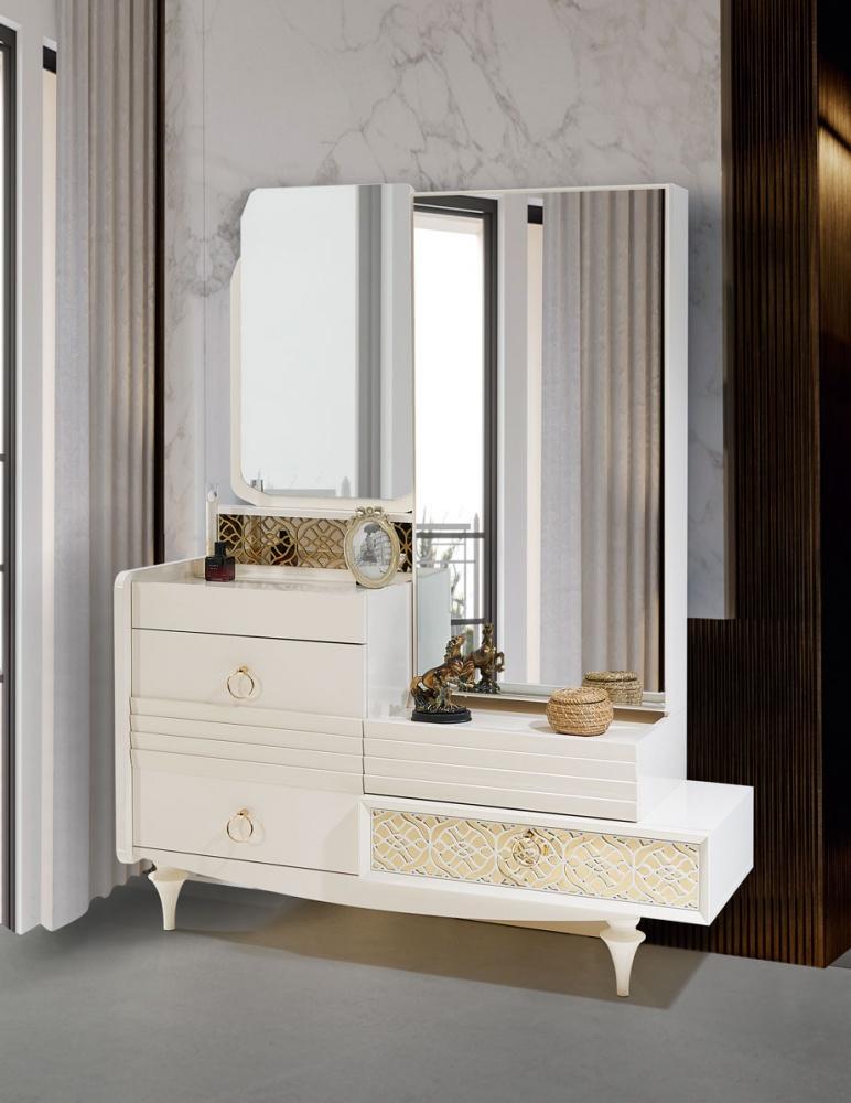 Schlafzimmer Spiegelkommode Pena In Weiss Kaufen Bei Mobel Lux