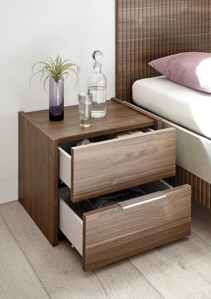 Schlafzimmer Weiß Nussbaum hell Alpaca Luana   Kaufen bei Möbel Lux