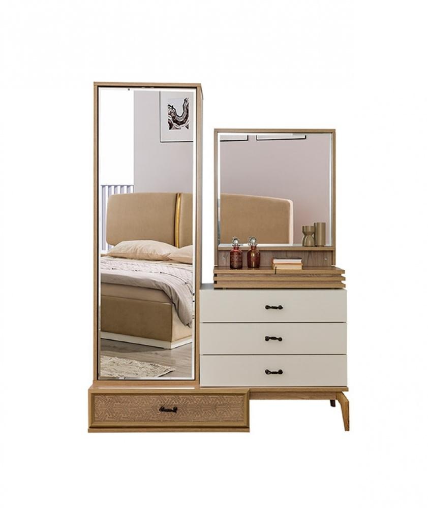 Schlafzimmer Kommode Conrad In Weiß Braun Kaufen Bei MöbelLux - Schlafzimmer braun weiß