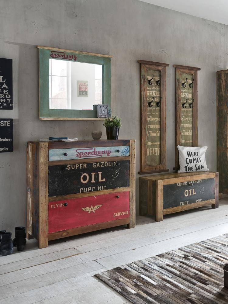 Spiegel mit Rahmen Avias aus Altholz mit Ablage - Kaufen bei Möbel-Lux