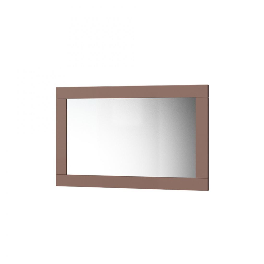 Ellipse Wandspiegel 92x68 mit hellbraunem Rahmen - Kaufen bei Möbel-Lux