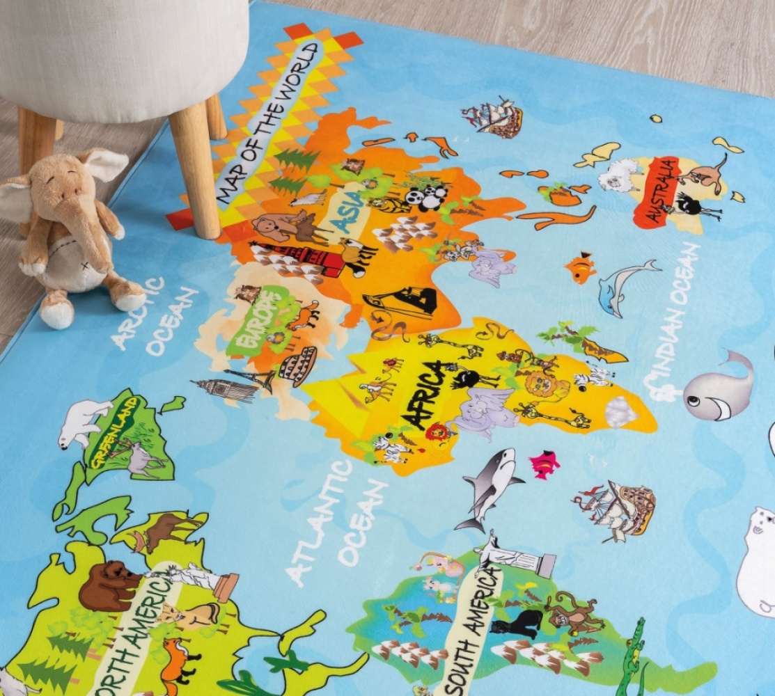 Cilek Kinder Spielteppich World 100x150