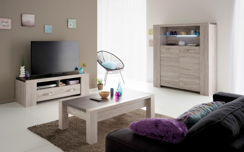 Parisot Malone Wohnzimmer modern 3-teilig in Grau