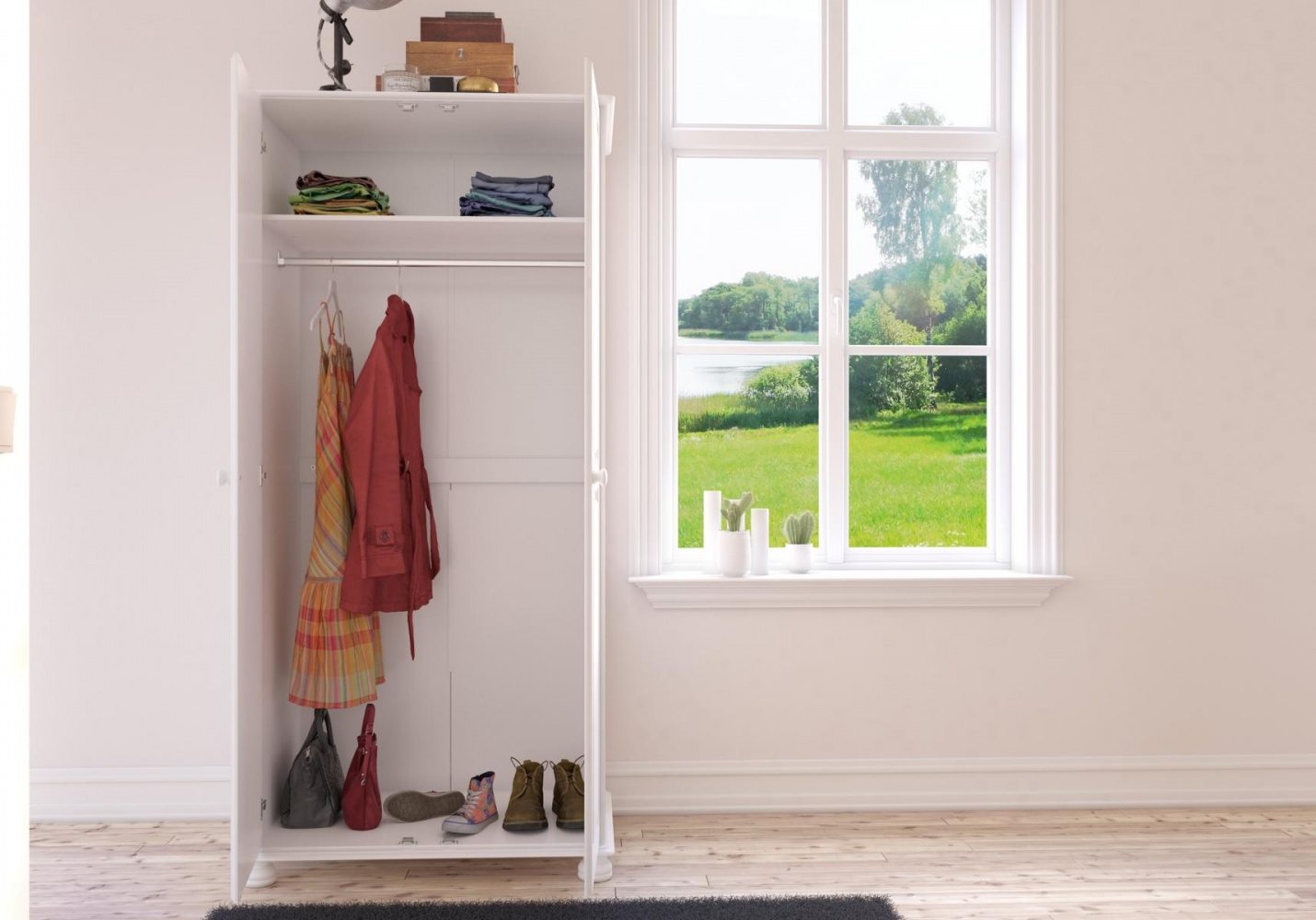 Schlafzimmer Set Weiß Landhaus Camille 4-teilig