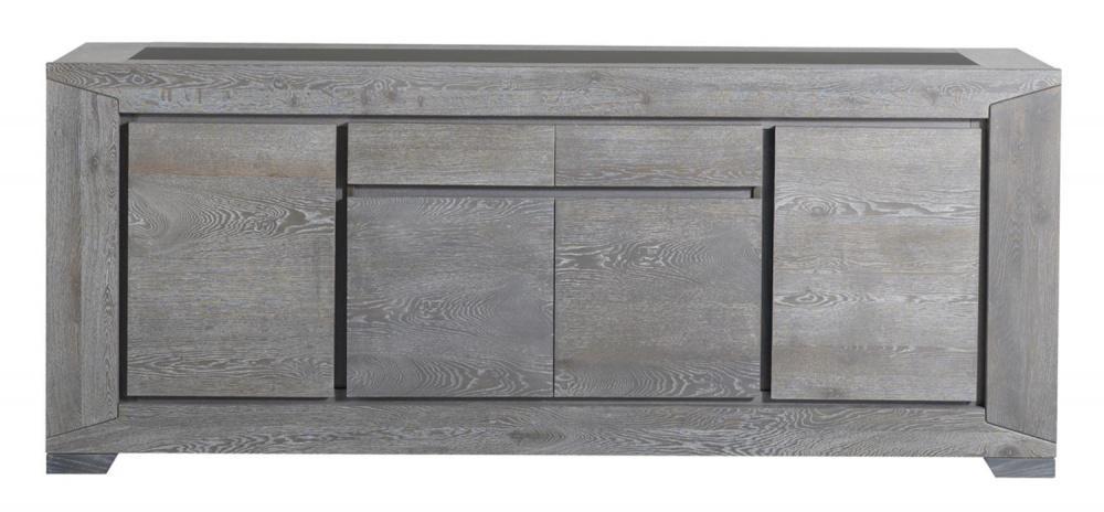 Esstisch mit Sideboard Tare Massiv-Teilmassiv grau eiche - Kaufen ...