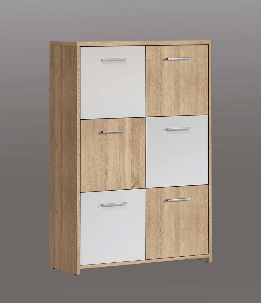 Schlafzimmer Kommode Cubus in Sonoma Eiche / Weiß - Kaufen bei Möbel-Lux
