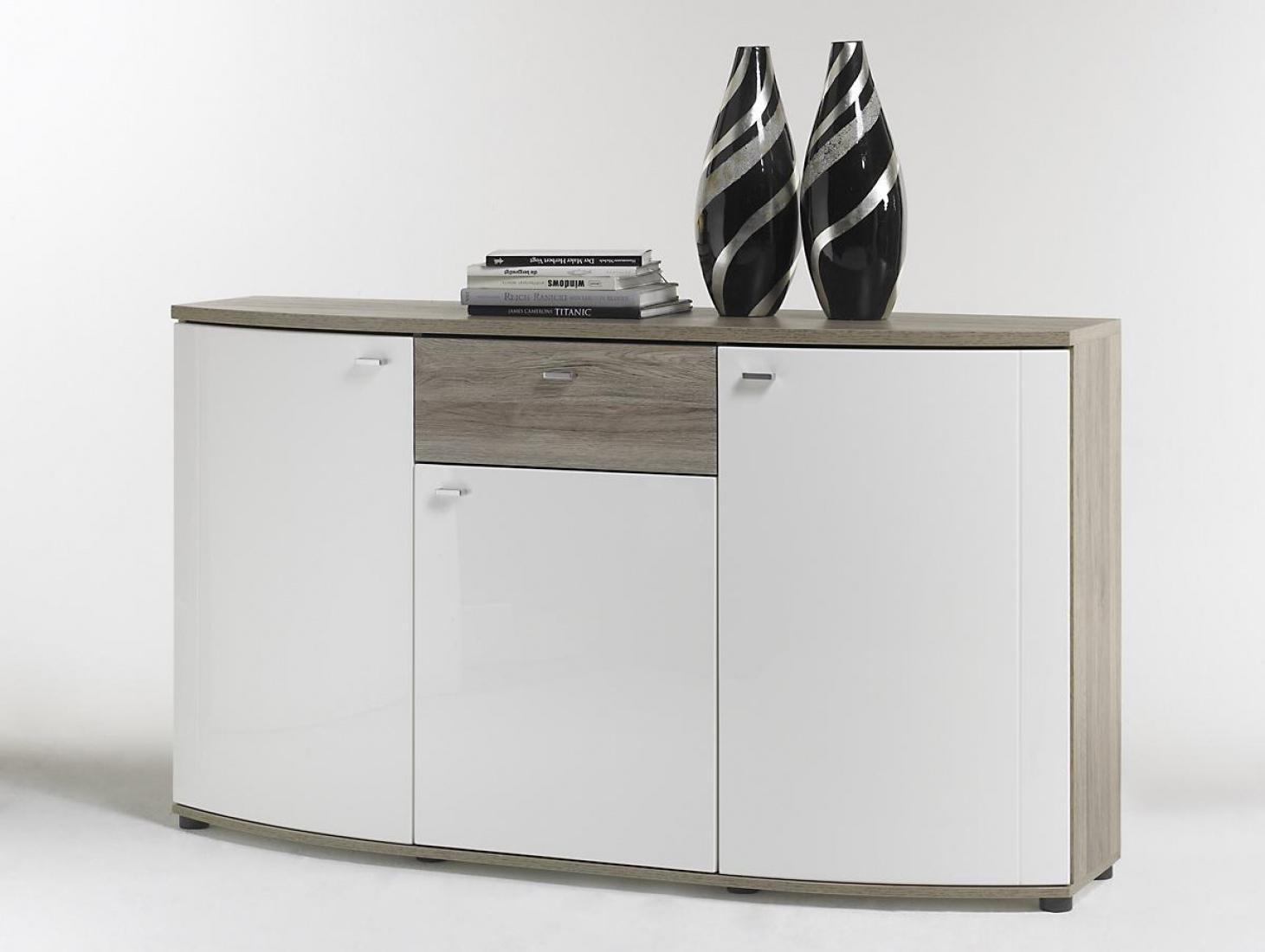 Sideboard Malee Weiß Mit Sonoma Eiche Nachbildung Kaufen Bei Möbel Lux
