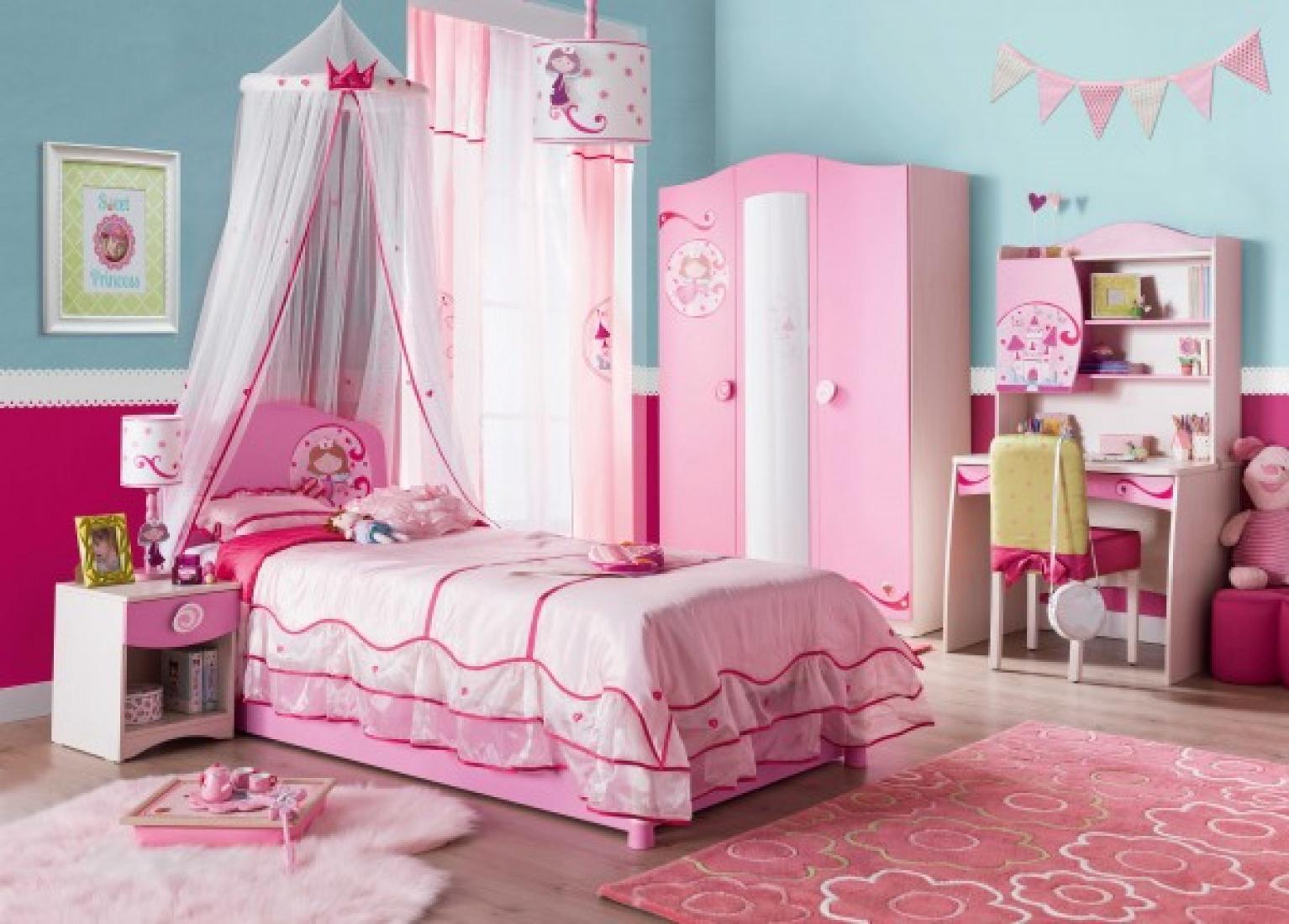Cilek Princess Kinderzimmer 4-teilig Rosa