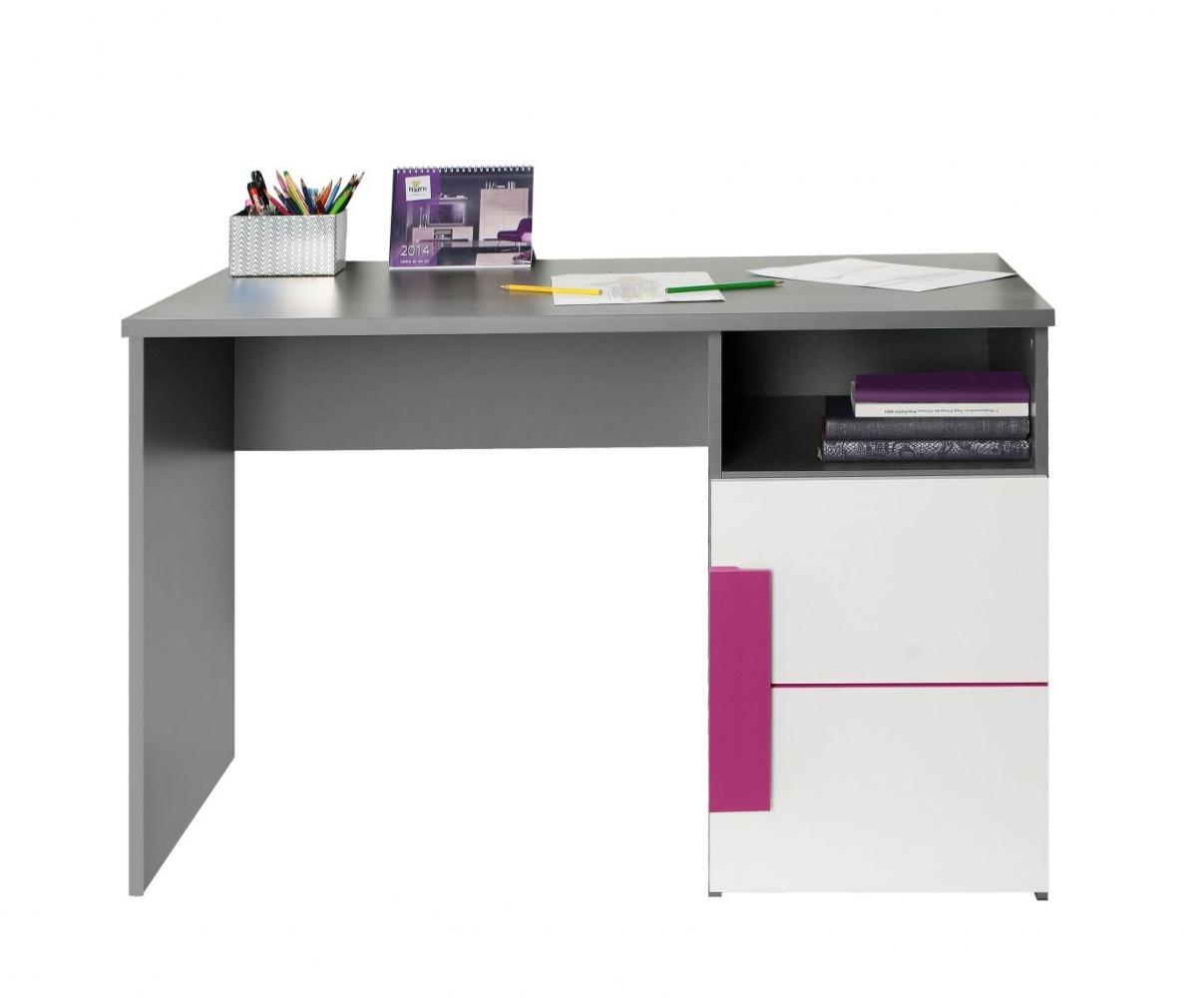 Astounding Schreibtisch Grau Weiß Galerie Von In Weiß Violett Trinity 1