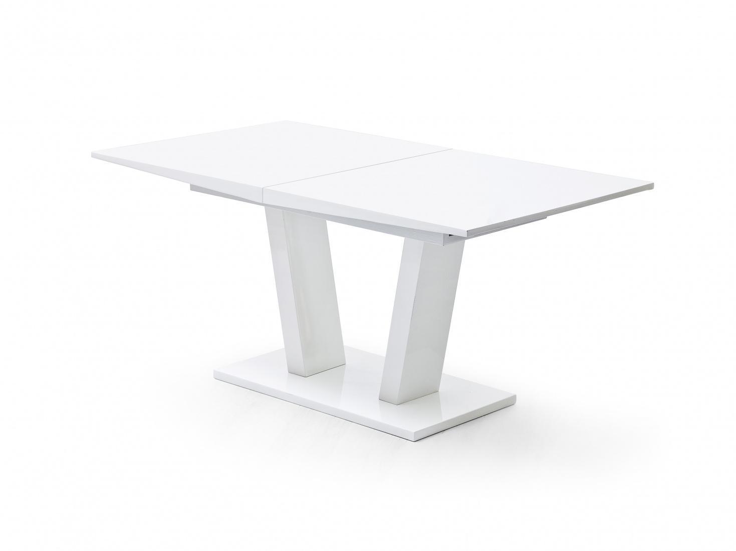 Tiri Esstisch 160x90 Ausziehbar Mit Synchronauszug Weiß Kaufen Bei