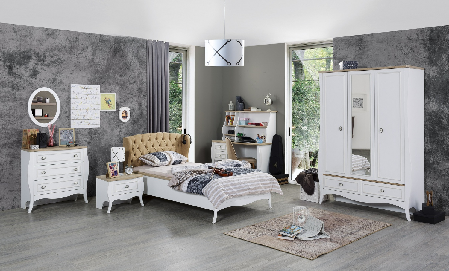 jugendzimmer komplett diamond 5 teilig kaufen bei m bel lux. Black Bedroom Furniture Sets. Home Design Ideas
