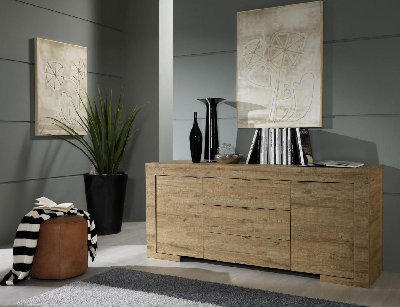 Sideboard Roma 2 Türig In Eiche Natur Kaufen Bei Möbel Lux