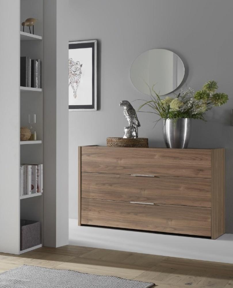 Schlafzimmer Kommode Nussbaum hell Alpaca Luana