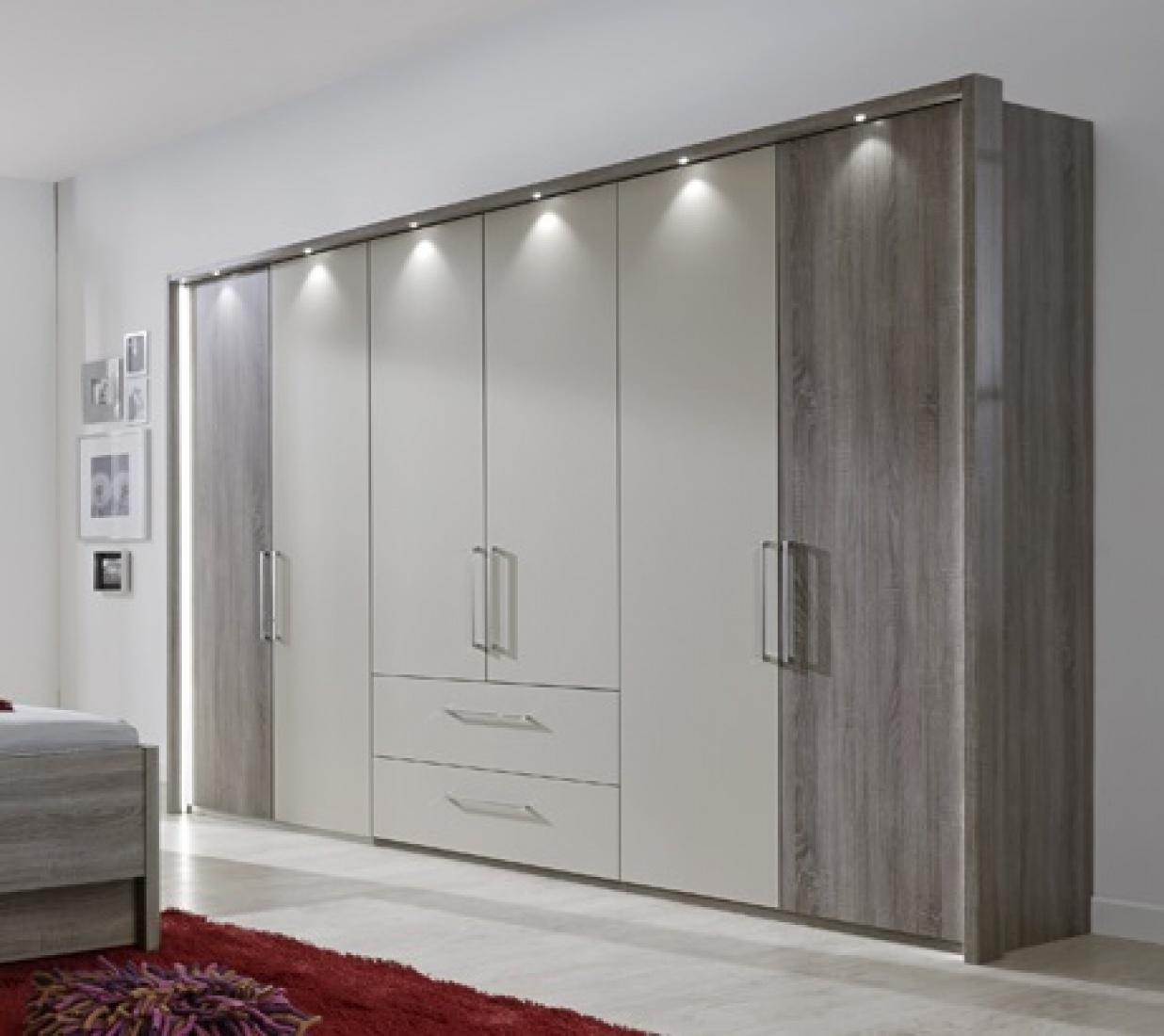 Kleiderschrank Delina In Truffeleiche 300 Cm Kaufen Bei Mobel Lux