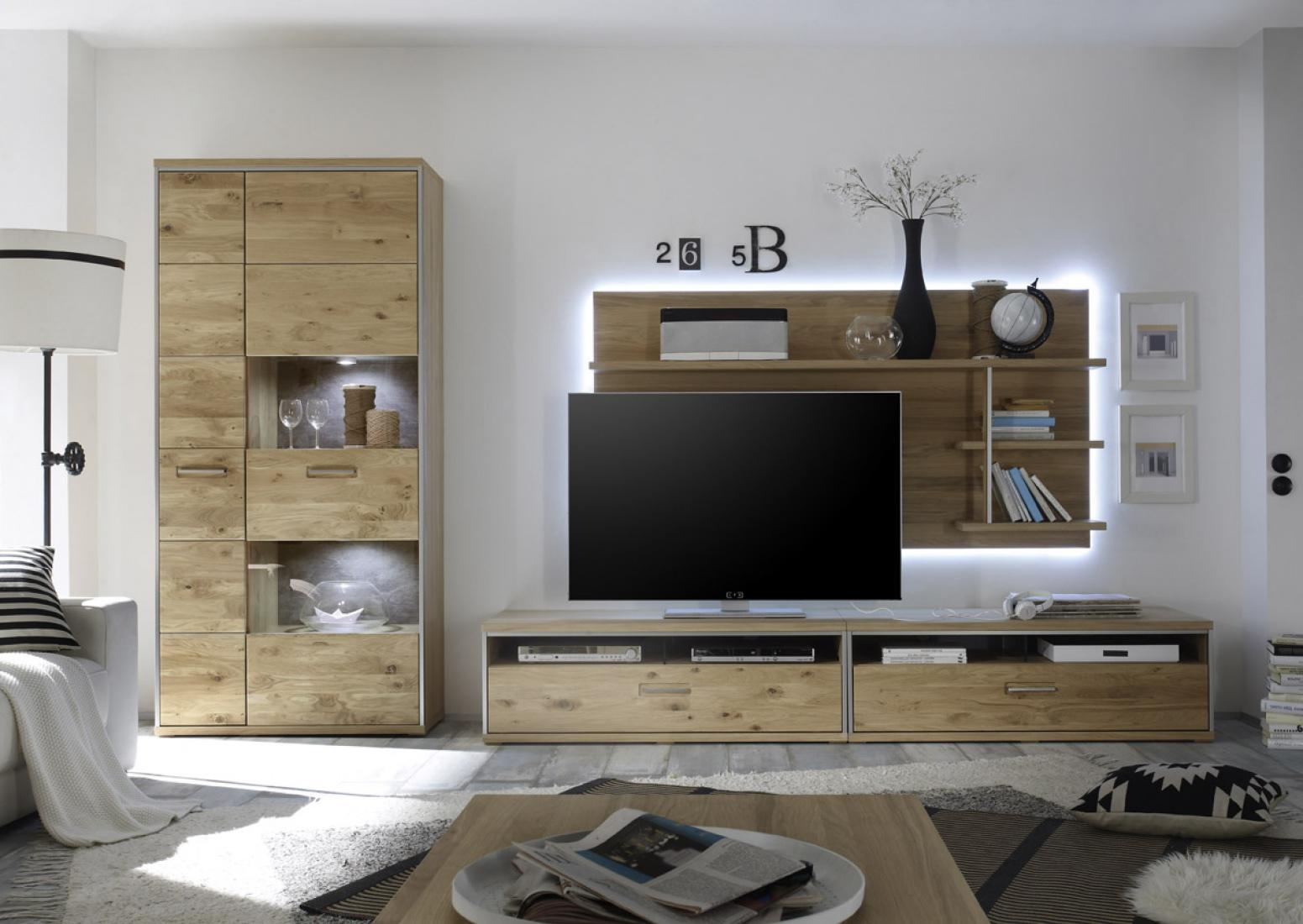 tv wandpaneel meja in ast eiche bianco massiv kaufen. Black Bedroom Furniture Sets. Home Design Ideas