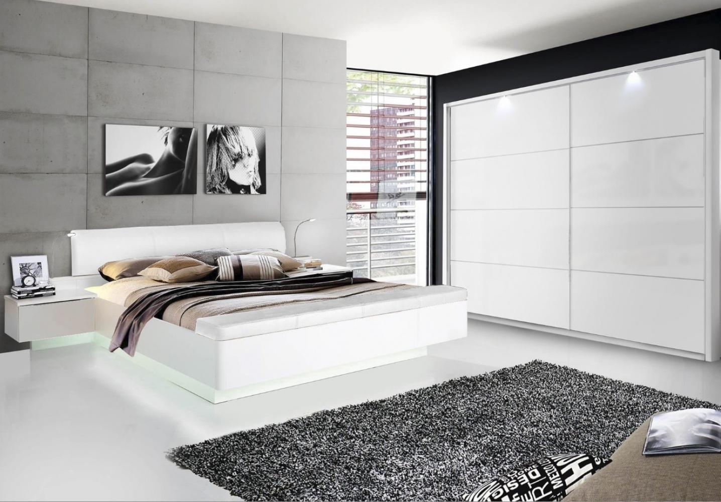 Schlafzimmer komplett in Weiß Hochglanz Story - Kaufen bei Möbel-Lux