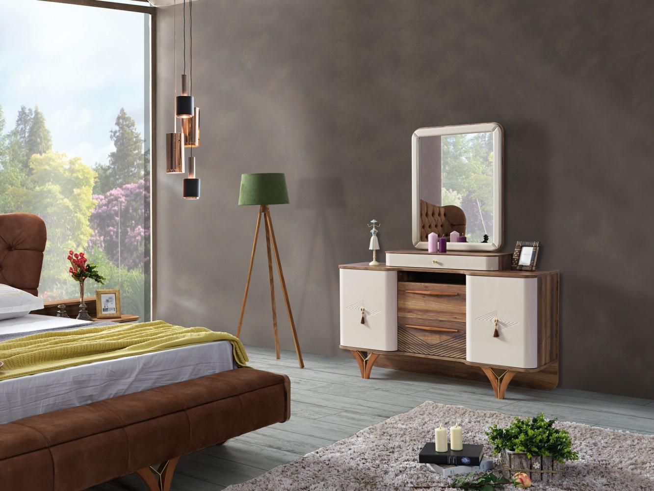 Kommode Mit Spiegel Panama Mit Massivholz Fussen Kaufen Bei Mobel Lux