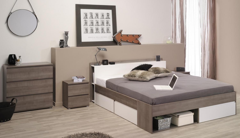Parisot Most modernes Schlafzimmer 3-teiliges Set 140x200