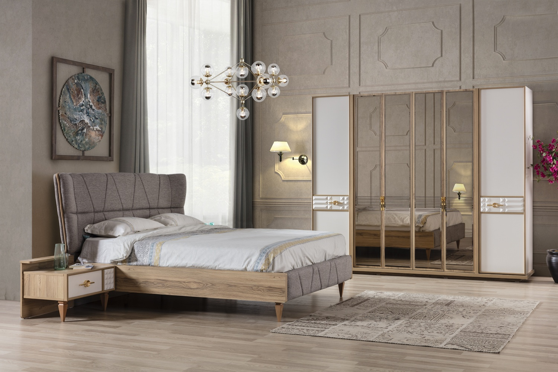 Schlafzimmer Komplettset Venedik mit Stauraumbett