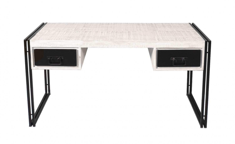 Schreibtisch Holz 150x80 Whitop mit Altmetall - Kaufen bei Möbel-Lux