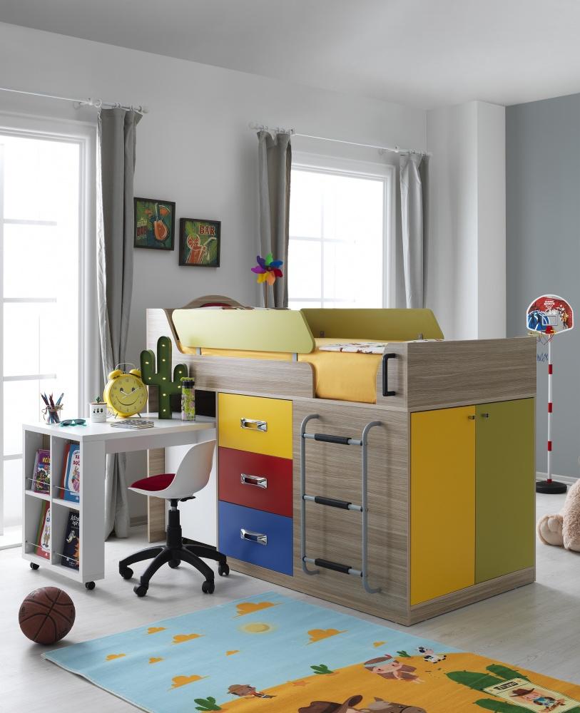 Hochbett Mit Schreibtisch Und Schrank Herrenk Kaufen Bei Mobel Lux