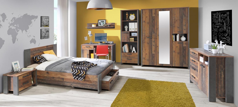 Jugendzimmer komplett Set Cleo 7-teilig 140x200 - Kaufen ...