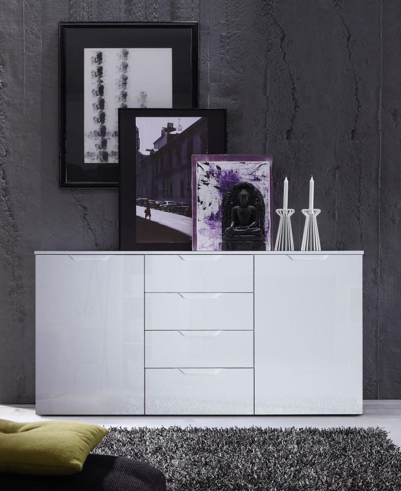 Bemerkenswert Breite Kommode Galerie Von Selina 2-türig In Weiß Hochglanz