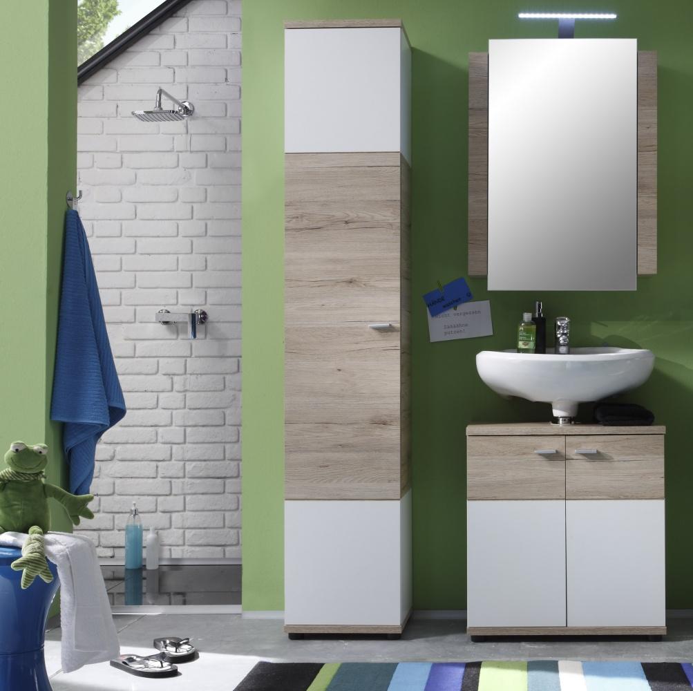 Badezimmer Set Rikke 3 Teilig In Eiche San Remo Kaufen Bei Mobel Lux
