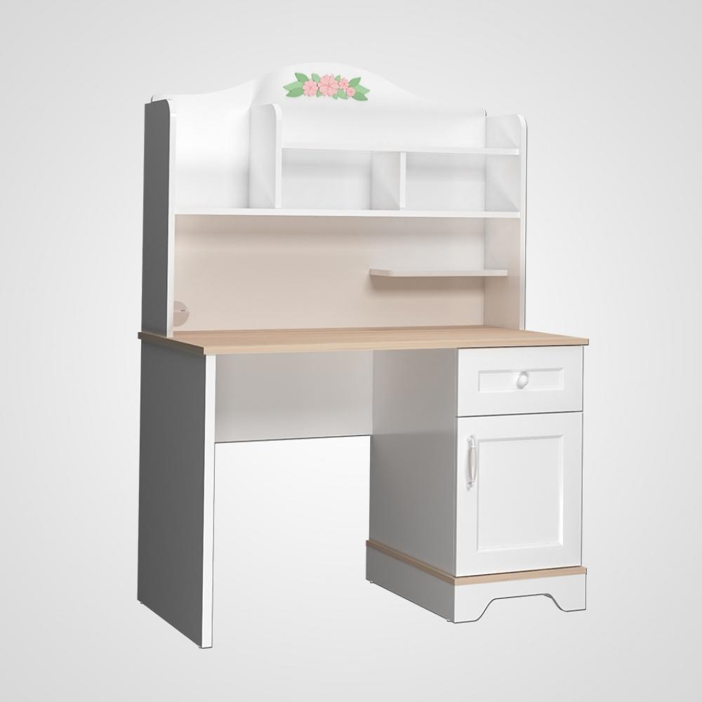 Kinderzimmer Schreibtisch Bianca Weiß mit USB