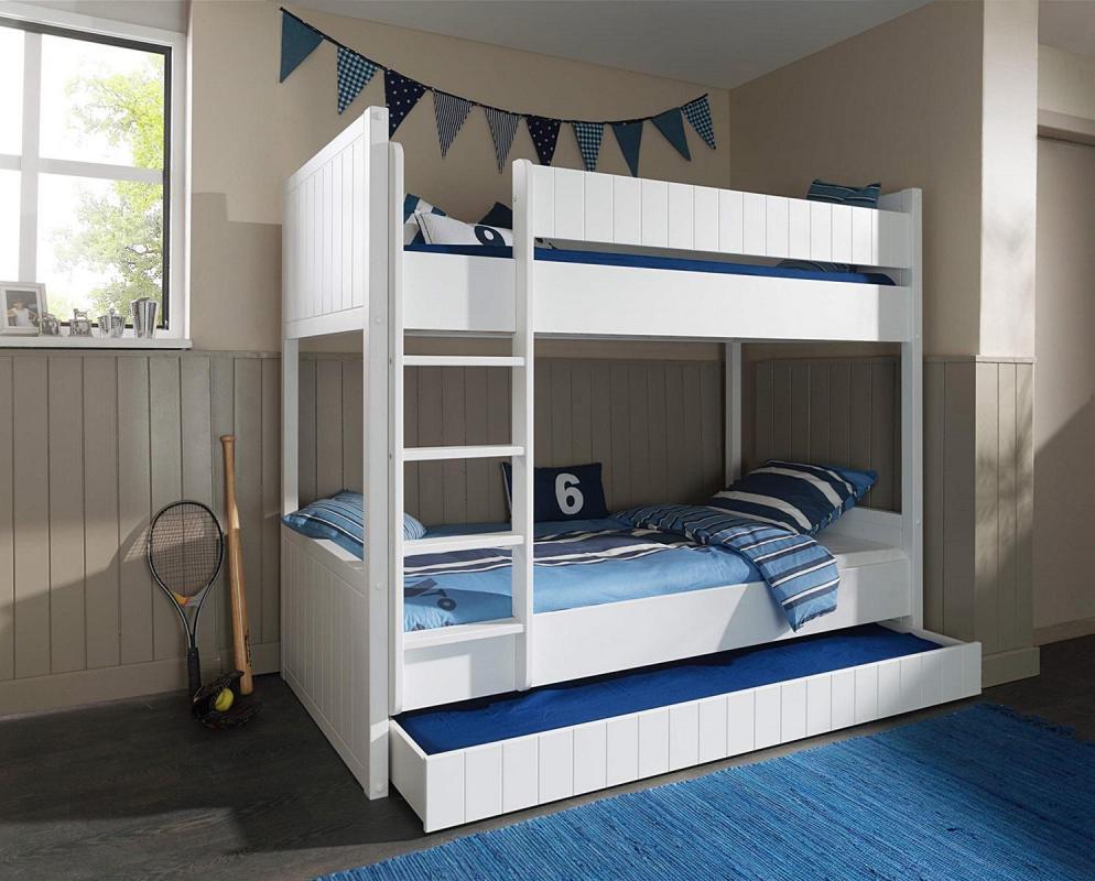 Etagenbett Weiß Mit Bettkasten : Etagenbett luca weiß mit bettkasten kaufen bei möbel lux