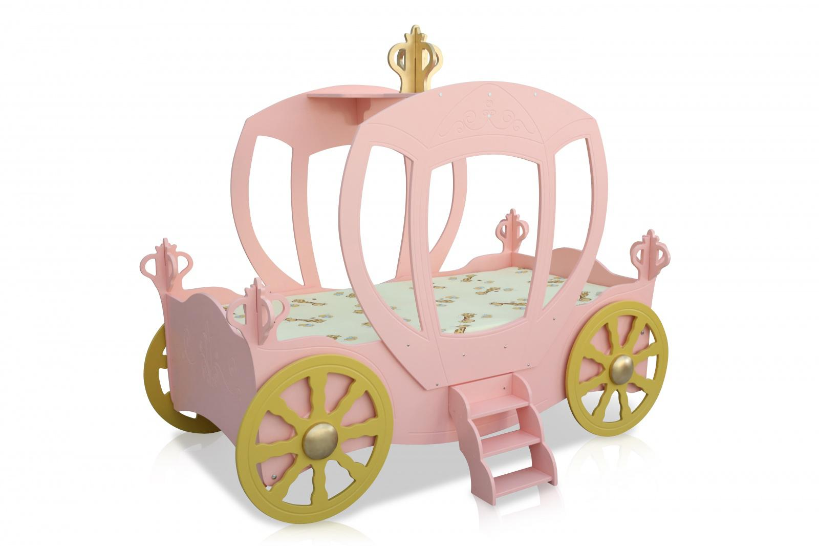 kinderbett prinzessin kutsche rosa inkl matratze kaufen bei m bel lux. Black Bedroom Furniture Sets. Home Design Ideas