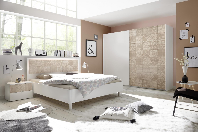 Schlafzimmer Set Weiß Sonoma Eiche Xena 18-teilig