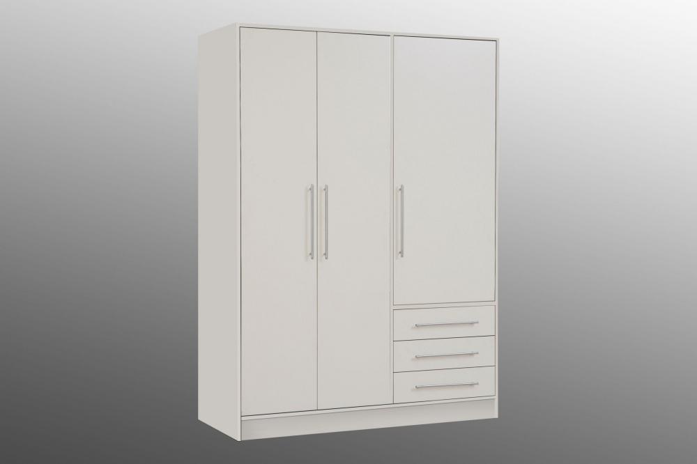 Kleiderschrank Lukas 4-türig Sonoma Eiche-weiss - Kaufen bei Möbel-Lux